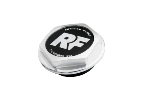 "Hex Center Cap ""RF"" Silver Rotiform"