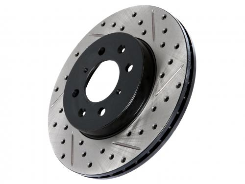 Cadillac / Chevrolet / Hummer Drilled and Slotted Disc Right Front Stoptech