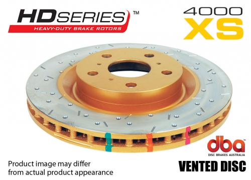 PORSCHE Rear 4000 series - XS Brake Disc (Single) DBA