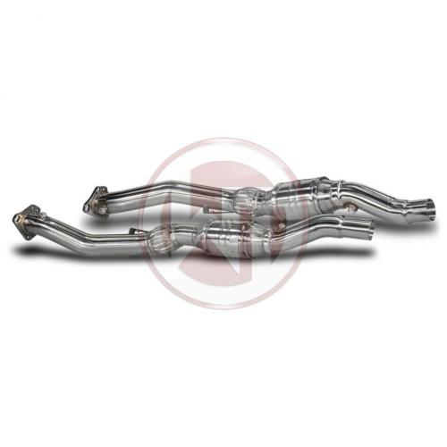 "Audi B5 S4/RS4/A6 Downpipe-Kit 3"" Med 100 Cell Racekatalysator Wagner Tuning"