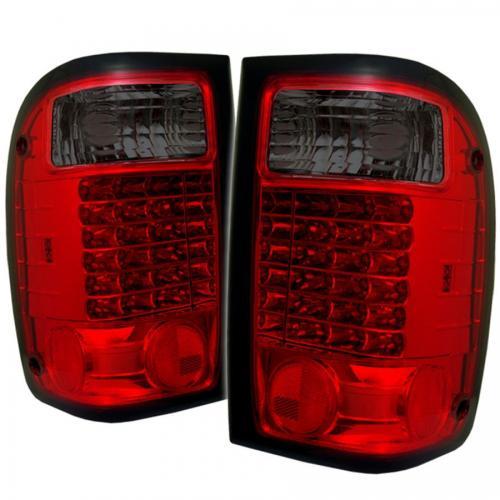 Ford Ranger 01-05 LED Bakljus - Röda Röktonade