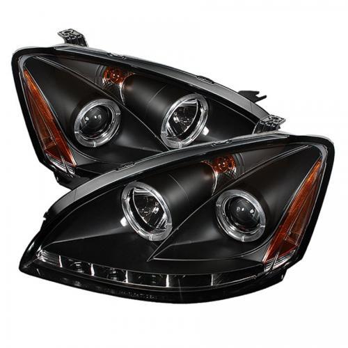Nissan Altima 02-04 Strålkastare (Passar ej Xenon/HID-Modeller) - LED Halo  Svarta