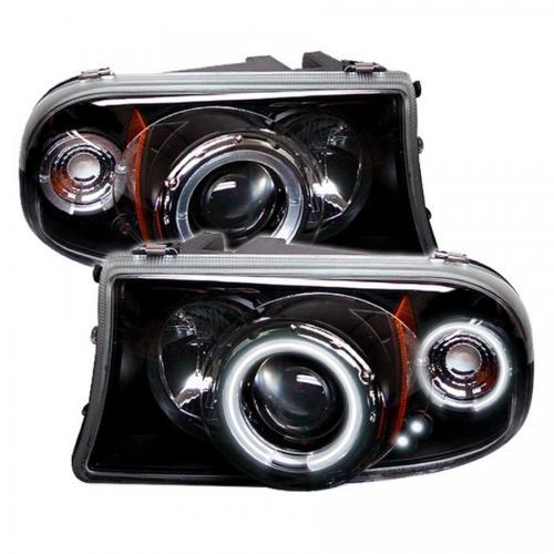 Dodge Dakota 97-04 / Durango 98-03 1PC Strålkastare Projektor LED (Utbytbara LEDs) – Svarta