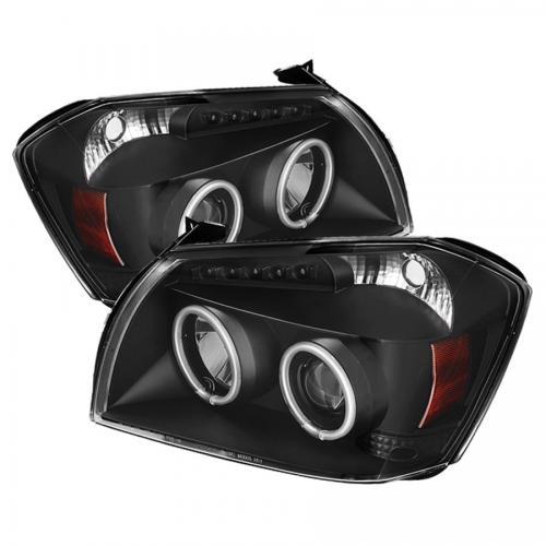 Dodge Magnum 05-07 Strålkastare Projektor LED (Utbytbara LEDs) - Svarta