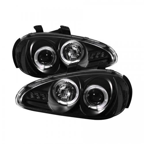 Mazda MX3 92-96 Strålkastare Projektor - LED Halo  Svarta
