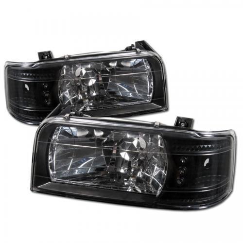 Ford F150 92-96 / Ford Bronco 92-96 1PC LED (Utbytbara LEDs) Strålkastare - Svarta