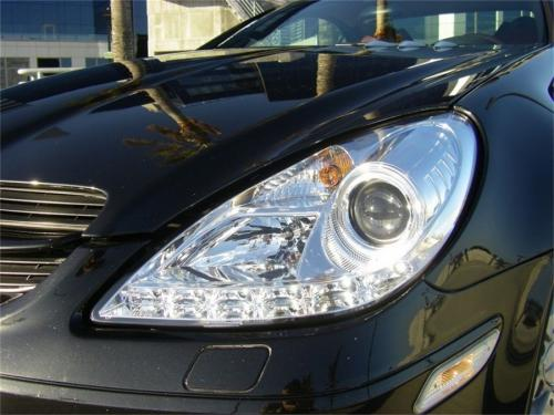 Mercedes Benz SLK 05-10 Strålkastare Projektor - Xenon/HID  DRL - Krom