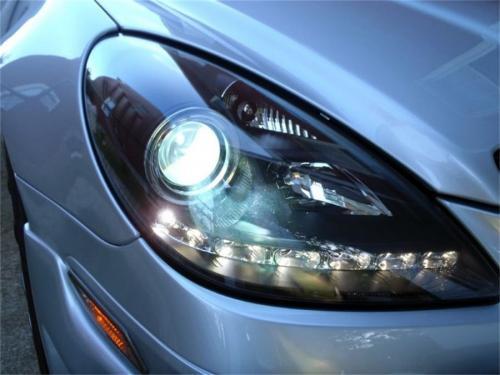 Mercedes Benz SLK 05-10 Strålkastare Projektor – Xenon/HID DRL - Svarta