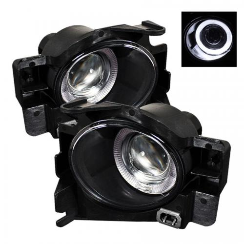 Nissan Altima 08-12 2Dr (w/Switch. No Cover) Halo Projector Fog Lights w/Switch- Clear