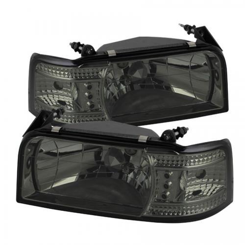 Ford F150 92-96 / Ford Bronco 92-96 1PC LED (Utbytbara LEDs) Strålkastare - Röktonade