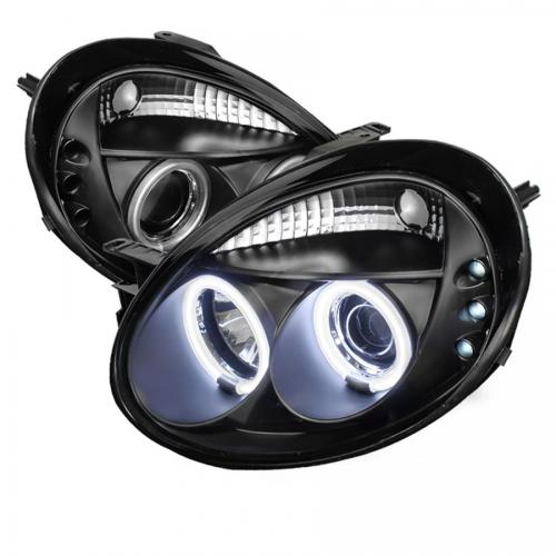 Dodge Neon 03-05 Strålkastare Projektor LED (Utbytbara LEDs) - Svarta