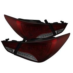 Hyundai Sonata 11-13 LED Bakljus - Ljuslist - Röda Röktonade