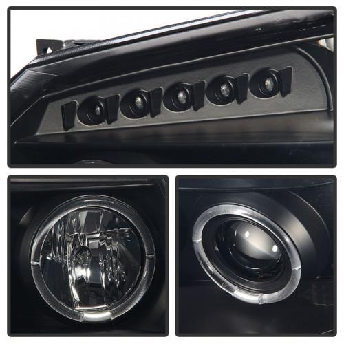 Dodge Magnum 05-07 Strålkastare Projektor - LED Halo  Svarta Röktonade