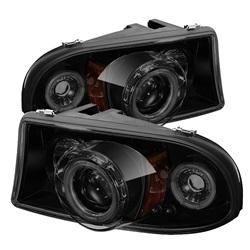 Dodge Dakota 97-04 / Durango 98-03 1PC Strålkastare Projektor LED (Utbytbara LEDs) - Svarta Röktonade