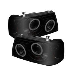 Ford Ranger 01-11 1PC Strålkastare Projektor LED (Utbytbara LEDs) - Svarta Röktonade