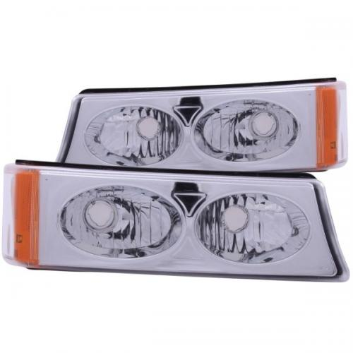 Chevrolet Avalanche 2003-2006 W/O BODY CLADDING Euro Parking Lights Crystal ANZO