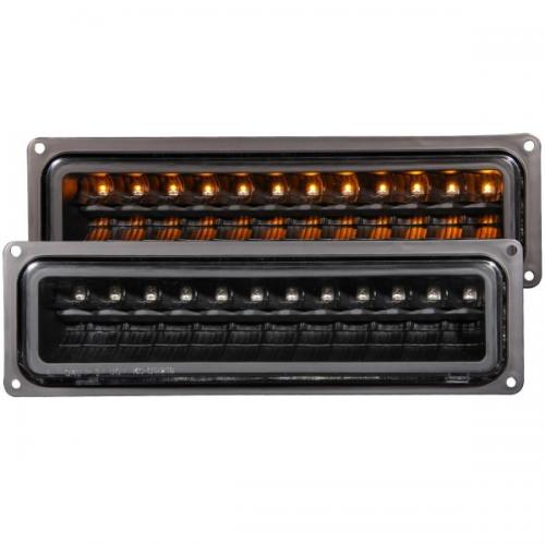 Chevrolet Suburban 1992-1999 LED Parking Lights Black ANZO