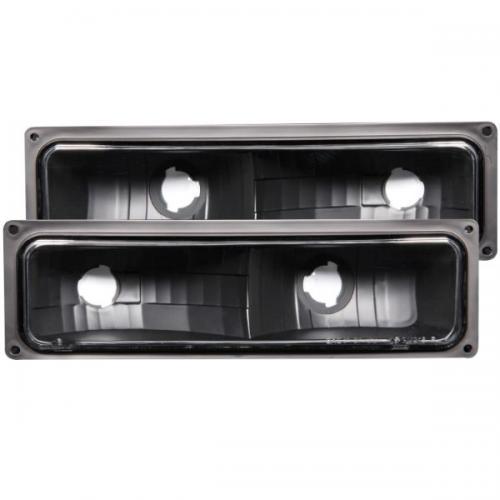Chevrolet Suburban 1992-1999 Euro Parking Lights Black ANZO