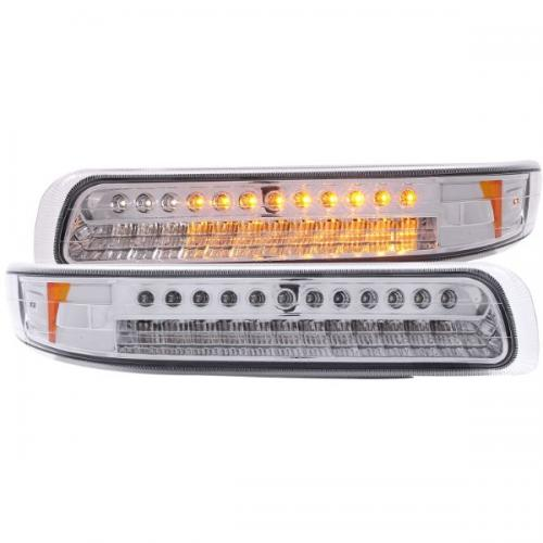 Chevrolet Suburban (EJ GMC / NOT GMC) 2000-2006 LED Parkeringsljus Krom / Orange Reflektor ANZO