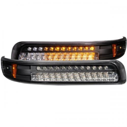 Chevrolet Suburban (EJ GMC / NOT GMC) 2000-2006 LED Parkeringsljus Svart / Orange Reflektor ANZO