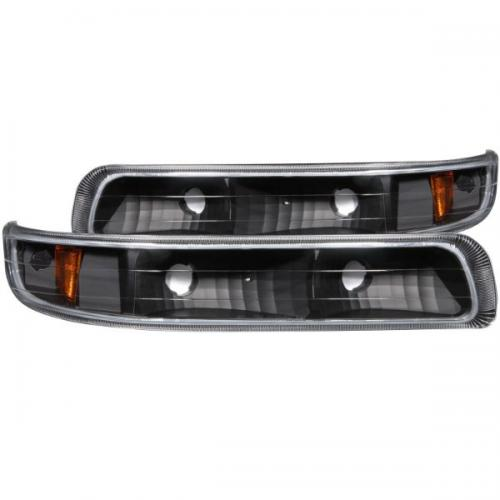 Chevrolet Suburban 2000-2006 (EJ GMC / NOT GMC) Euro Parking Lights Black w/ Amber Reflector ANZO