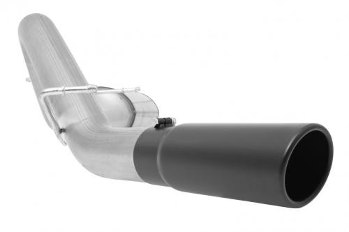 F-250 / F-350 Super Duty Pickup 6.2L 11-16 Crewcab, Long Bed Stainless Black Elite Cat-Back Single Exhaust System Gibson