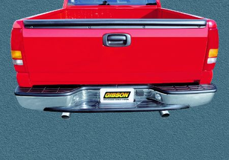 F-250 / F-350 Super Duty Pickup 6.2L 11-16 Crewcab, Short Bed Stainless Cat-Back Dual Split Exhaust System Gibson