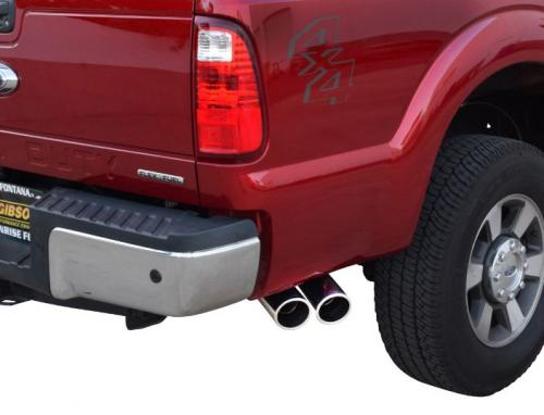 F-250 / F-350 Super Duty Pickup 6.2L 11-16 Supercab,Short Bed Stainless Cat-Back Dual Sport Exhaust System Gibson