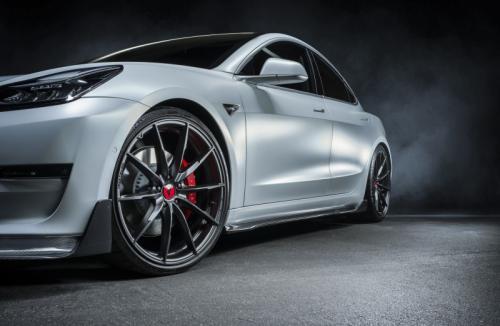 Vorsteiner Tesla Model 3 Volta Side Skirt Carbon Fiber PP 2x2 Glossy