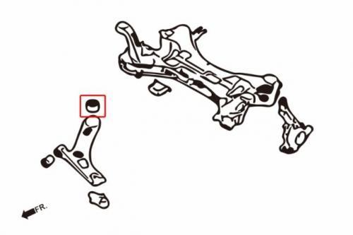 Hyundai / KIA Främre Nedre Länkarmsbussningar Bakre (Förstärkt Gummibussning) 2Delar/Set Hardrace