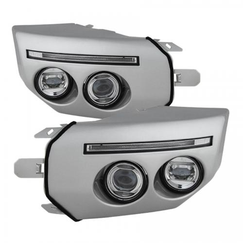 Toyota FJ Cruiser 07-14 Dimljus Med LED Ljuslist Med Switch Silver