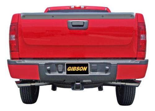 F-250 / F-350 Super Duty Pickup 6.2L 11-16 Crewcab, Short Bed AluminizedCat-Back Dual Extreme Exhaust System Gibson