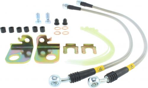 Ford, Jaguar, Lincoln Front Stainless Brake Lines Stoptech