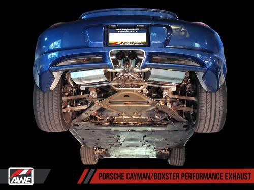 Porsche 987 Cayman/Boxster Performance Ljuddämpare AWE Tuning