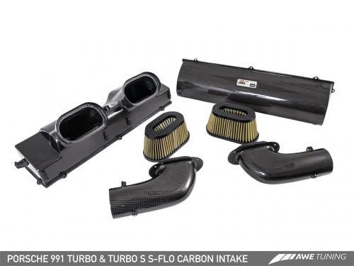 Porsche 991 Turbo/Turbo S S-FLO Insug Kolfiber AWE Tuning