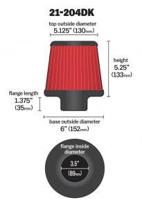 "3.5"" X 5"" DryFlow Filter AEM"