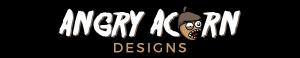 angry acorn design logo