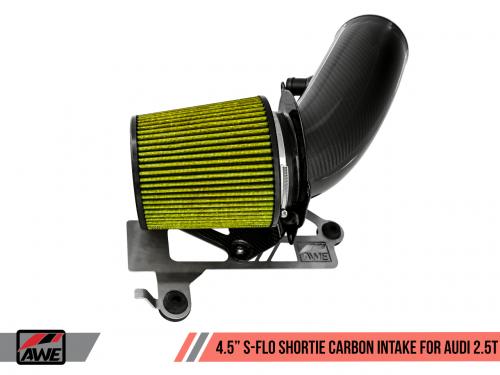 """Audi RS3 8V 17+ / TTRS MK3 S-FLO 4.5"""" Luftfilterkit Kolfiber AWE Tuning"""