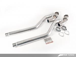 Audi 3.0T Non-Resonated Downpipes AWE Tuning
