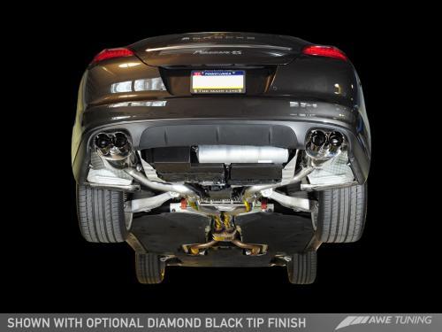 Porsche Panamera S/4S Touring Edition Exhaust System - Diamond Black Tips AWE Tuning