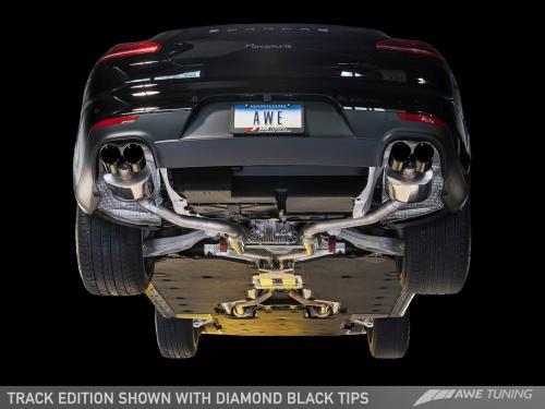 Panamera 2/4 970 Track Edition Avgassystem (2011-2013) - Med Diamond Black Utblås AWE Tuning