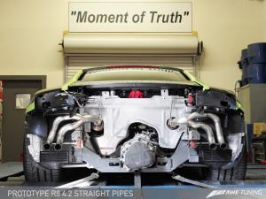 Audi R8 4.2L Straight Pipe Exhaust AWE Tuning