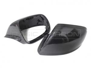 Audi Blank Kolfiber Backspegelkåpor (Q5, SQ5 & Q7) (Modeller med blinkers i speglarna) Basic Carbon