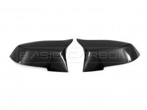 BMW F20 F22 F30 F32 F87 Blanksvarta Backpegelkåpor (Inkl. M135i, M235i, 335i & M2) Basic Carbon