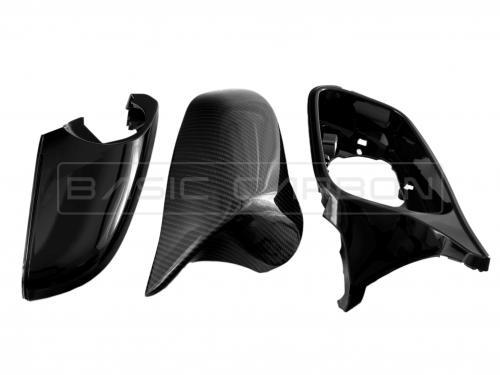 BMW F20 F22 F30 F32 F87 Pre-Preg Torr Kolfiber Kompletta Sidospeglar (Inkl. M135i, 335i & M2) Basic Carbon