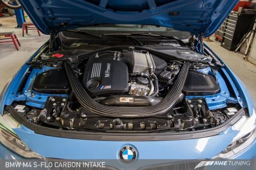 BMW F8x M3/M4 S-FLO Luftfilterkit Kolfiber AWE Tuning