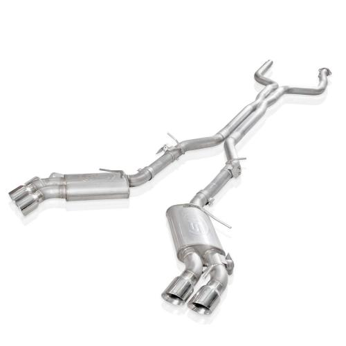 """2016-17 Camaro SS Avgassystem 3"""" X-Pipe (AFM ventiler, NPP Utbytesventiler) 4"""" Quad Utblås Stainless Works"""