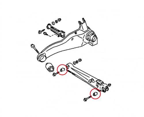 EVO 1-3 Bakre Länkarmsbussningar (Förstärkta Gummibussningar) 4 Delar/Set Hardrace
