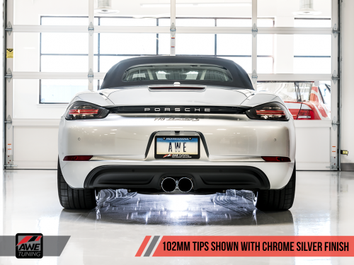 Porsche 718 Boxster / Cayman Track Edition Exhaust AWE Tuning