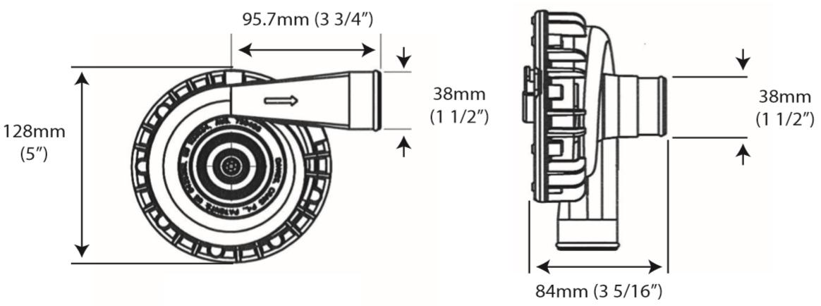 EWP115 12v Elektrisk Vattenpump Alloy 8040